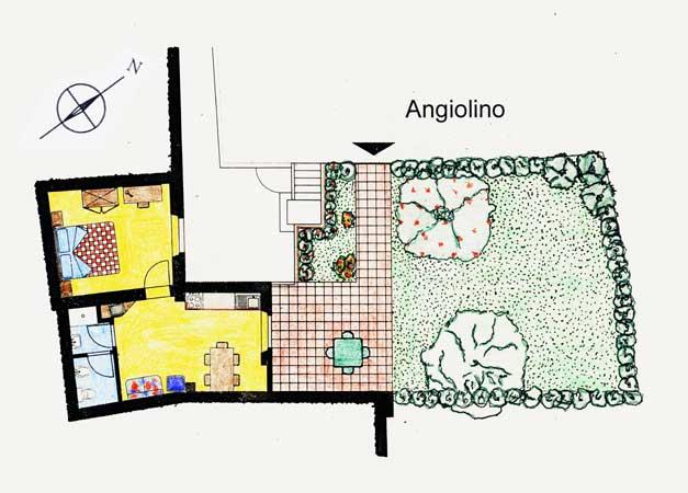 Farm Holidays La Baghera - La Baghera Alta - Angiolino Apartment - Layout