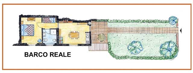 Farm Holidays La Baghera - La Baghera - Barco Reale Apartment - Layout
