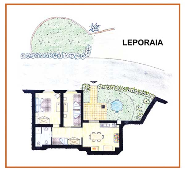 Farm Holidays La Baghera - La Baghera - Leporaia Apartment - Layout