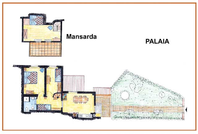 Farm Holidays La Baghera - La Baghera - Palaia Apartment - Layout